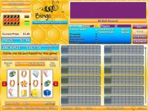 Bingo Beez Game Screen